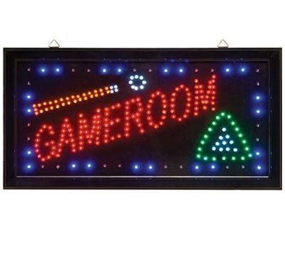 led game room sign light up your room gamer mancave pinterest. Black Bedroom Furniture Sets. Home Design Ideas