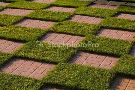 Checkerboard patio backyard ideas pinterest for Checkerboard garden designs