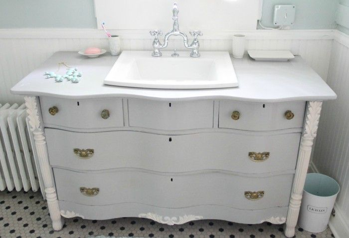 Dresser made into bathroom vanity furniture redo pinterest