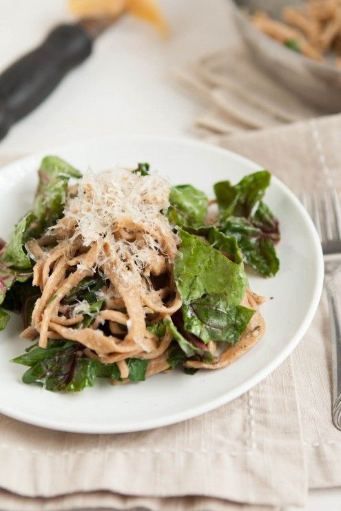 Ella | Spinach and Homemade WW Pasta with Garlic Butter Sauce ...