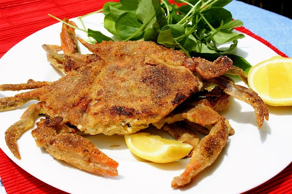 Cornmeal-Crusted Soft Shell Crabs/Alexandra's Kitchen