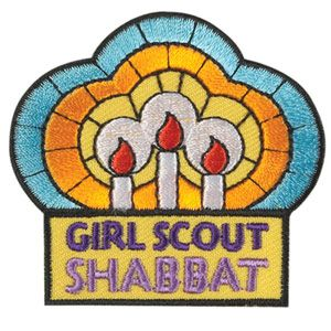 Girl scout shabbat patch jewcie pinterest