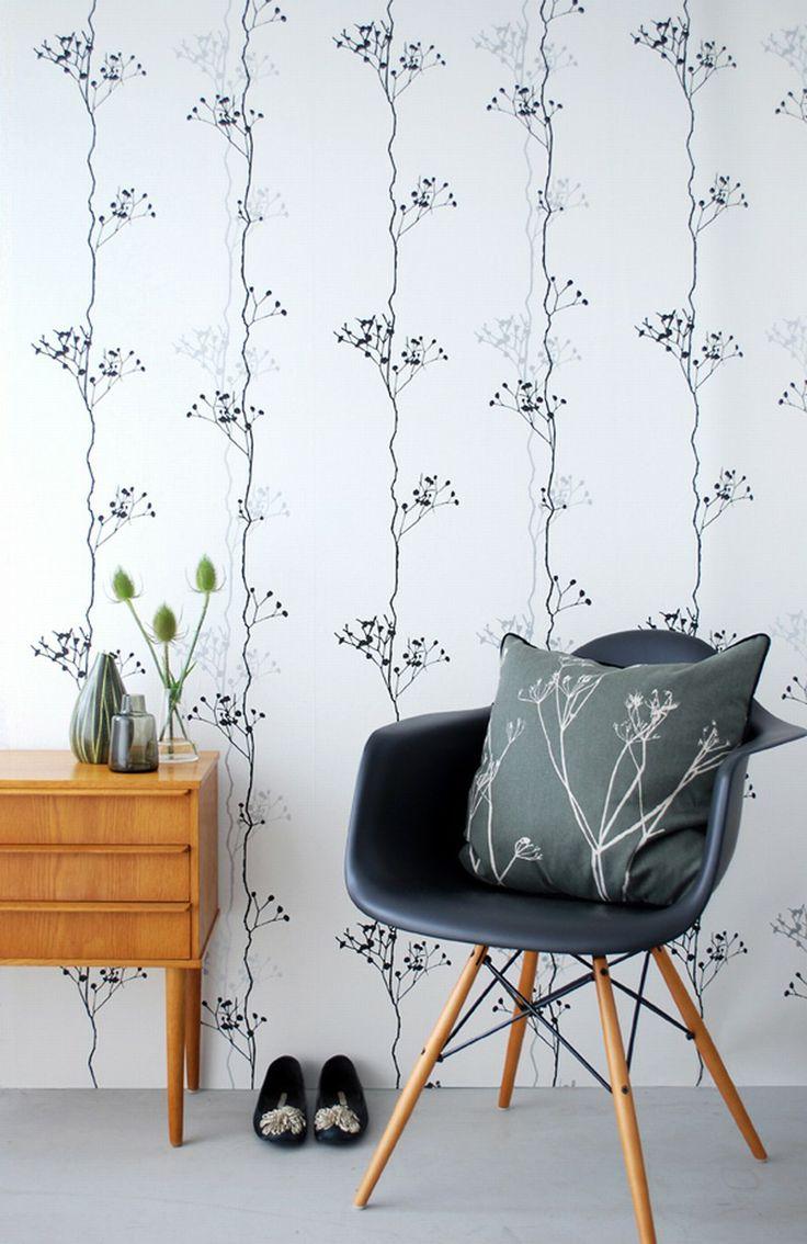 Ferm Living Wallpaper Ferm Living Berry Black Wallpaper Wish List Pinterest