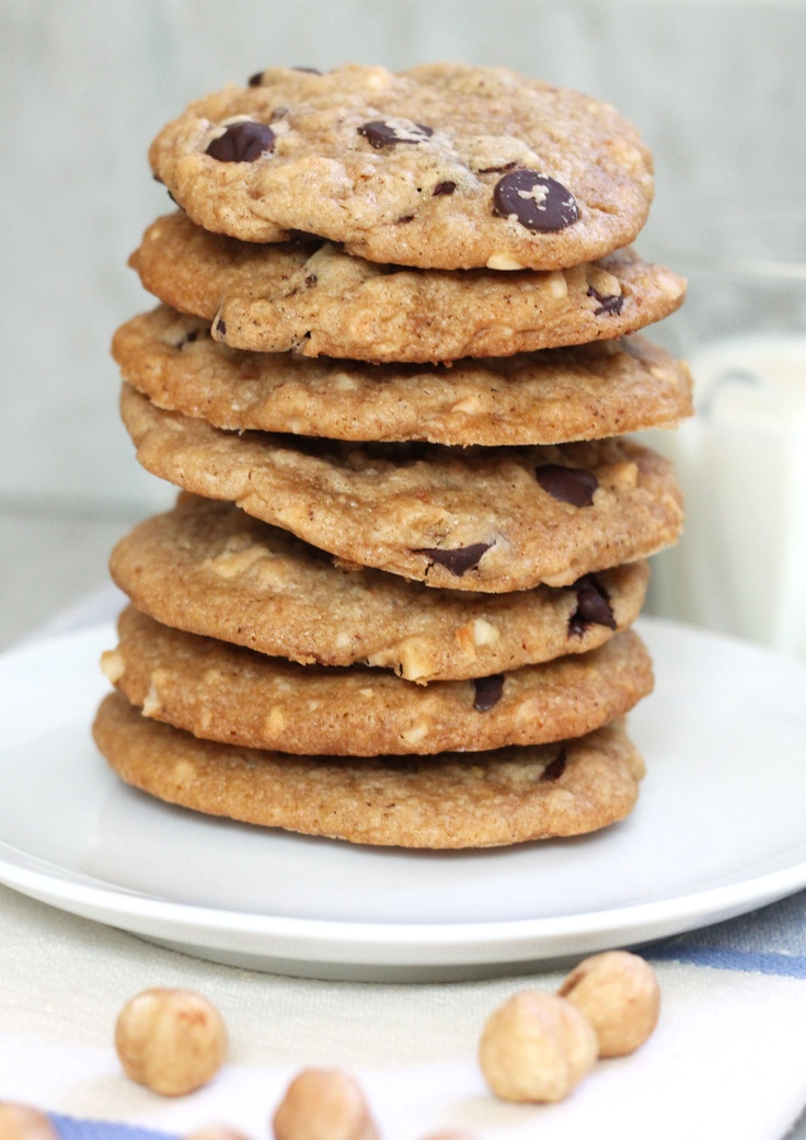 ... chocolate chips hazelnut butter cookies with mini chocolate chips