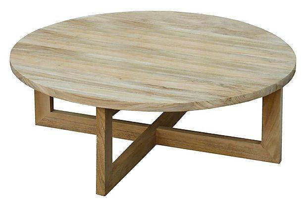 Plateau 36 Round Coffee Table Teak