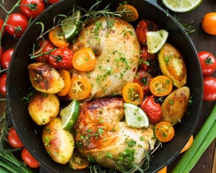 Grilled Orange-Rosemary Chicken Recipe | The Daily Meal