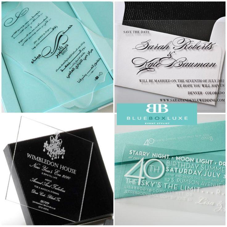 Clear Acrylic Wedding Invitations