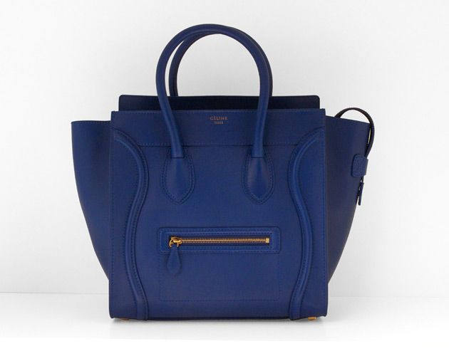 celine-royal-blue-mini-luggage-bag