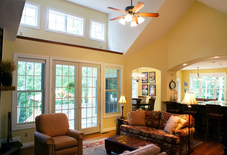 Pin by patti sumida on cathedral ceilings pinterest for Vaulted ceiling great room