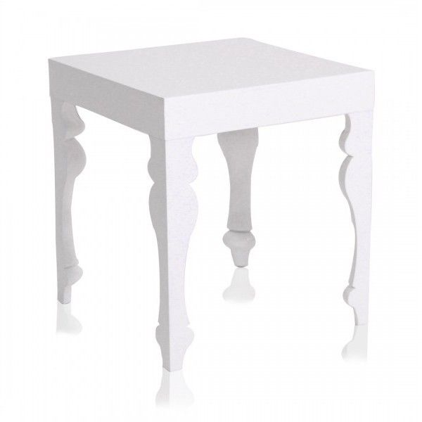 White Side Table : modern contemporary antique baroque white side table end tables