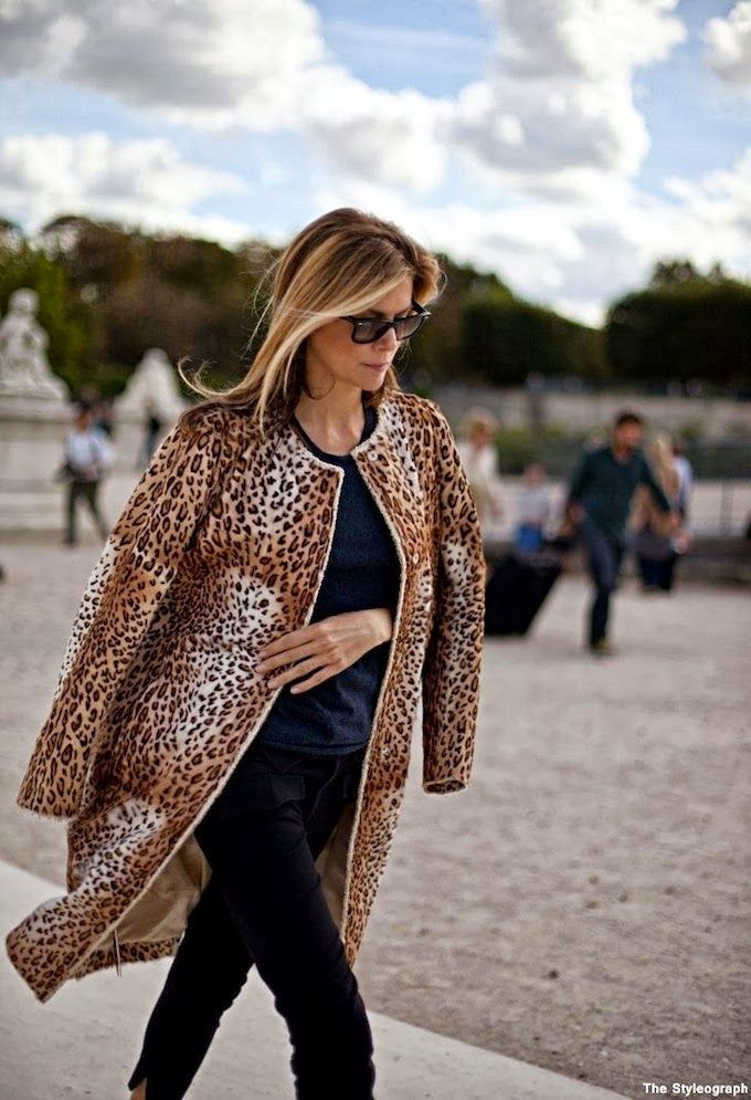 How to wear the Cheetah Twill Jacket: simply throw it over your shoulders  // October 2013 #goldentote