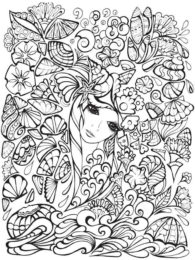 face coloring pages adults - photo#28