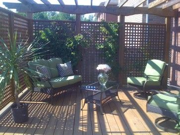 Privacy Deck: We created a private area in our suburban backyard where the homes