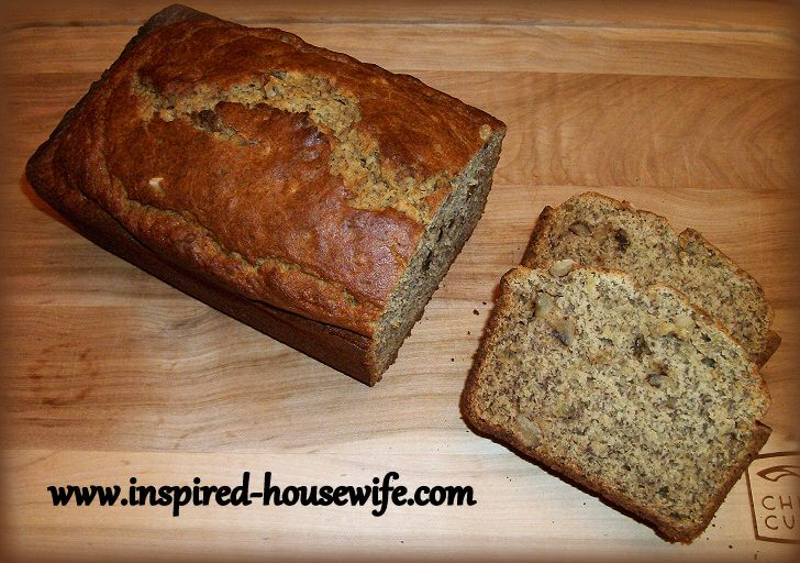 Delicious Gluten Free Banana Nut Bread www.inspired-housewife.com