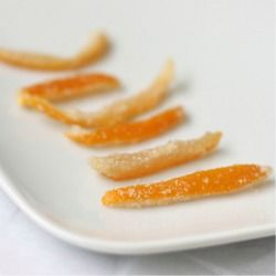 Candied Lemon Peel...can also make orange peel...delicious dipped in ...