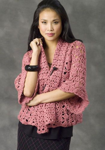NaturallyCaron.com :: Xian Kimono Jacket Crochet ...