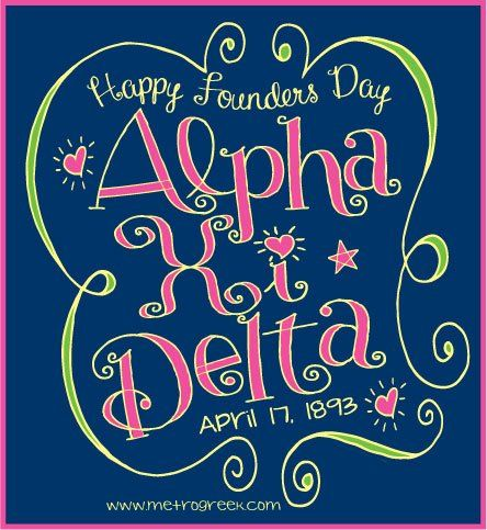 Happy founders day Alpha Xi Delta! Here's to 119 years of sisterhood! Xi <3