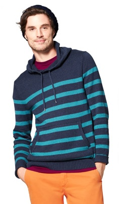 Blue & white striped American eagle hoodie American Eagle Outfitters