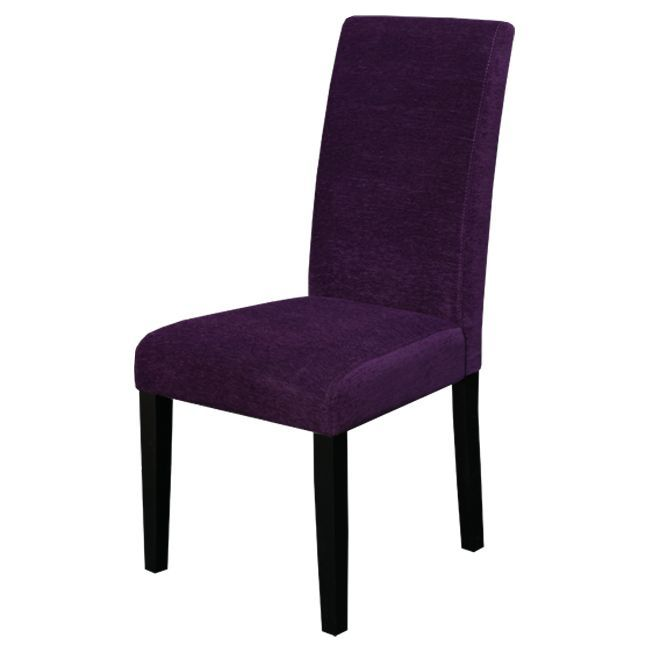 your dining room with this set of two eggplant purple dining chairs