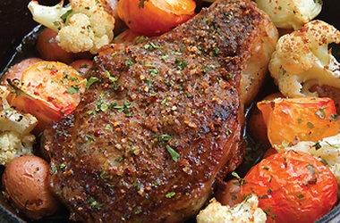 Double Rib Eye With Pink Peppercorn Crust Recipes — Dishmaps