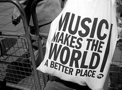 Music does make the world better (: