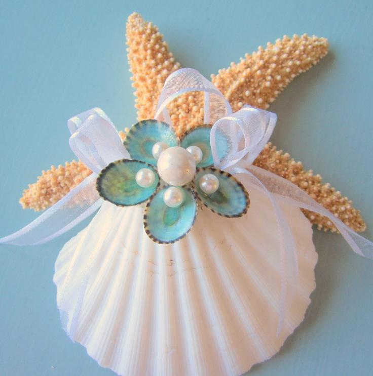 Beach decor seashell christmas ornament nautical holiday for Seashell ornament ideas