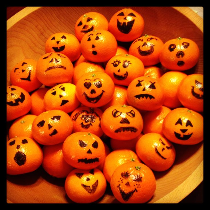 Halloween Tangerine | Fruit Creations | Pinterest