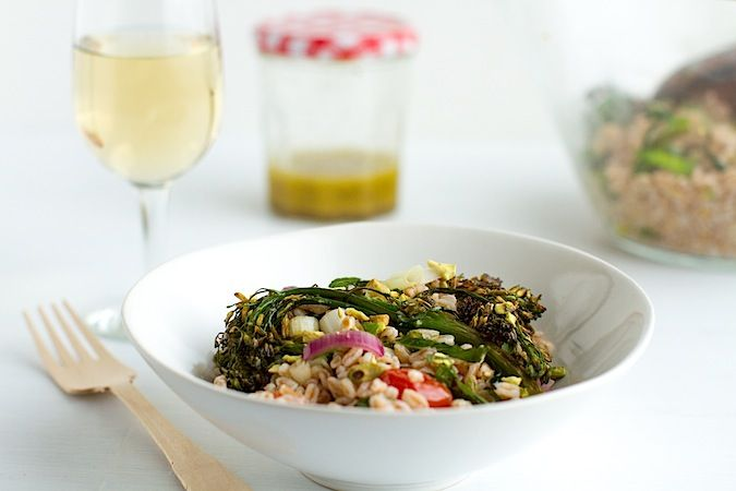 Farro and Roasted Broccolini Salad from Chez Us (http://punchfork.com ...