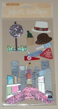 """Jolee's Boutique Grand """"City New Years"""" Scrapbook Stickers Buy 1 Get 1 FREE Ship FREE"""