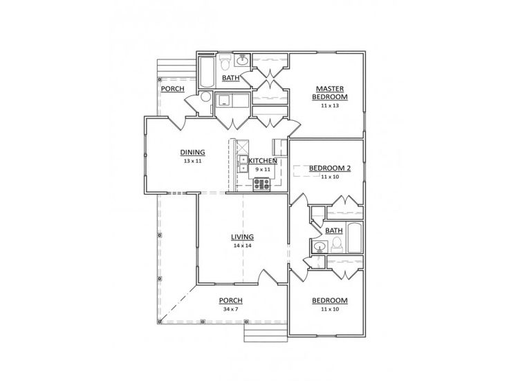 Single story narrow lot house plans ideas house plans for Narrow single story house plans