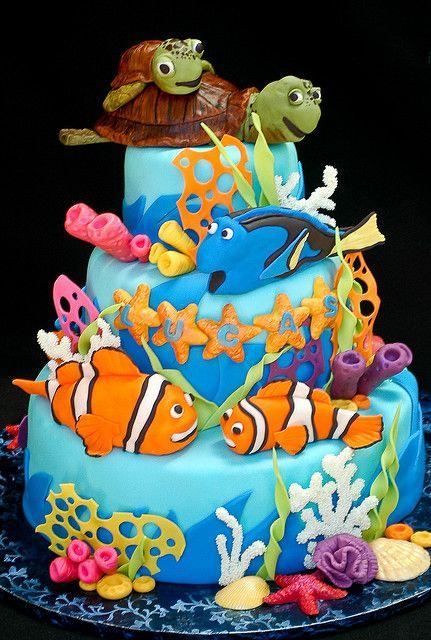 Lucas' Nemo Cake, via Flickr.