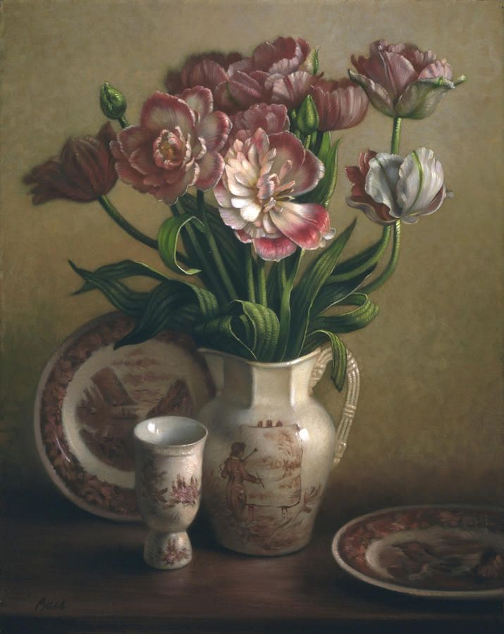 Lyndall Bass — Tulips And Redware  (715x900)