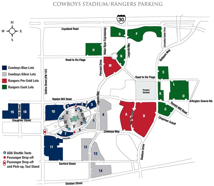Parking map cowboys stadium dallas cowboys pinterest for Mercedes benz superdome parking pass