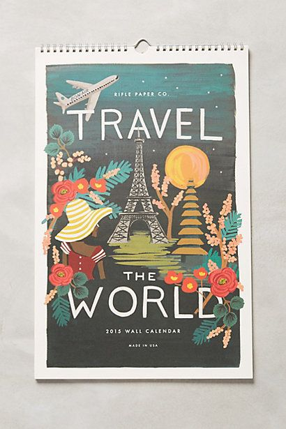 Travel The World 2015 Calendar #anthropologie