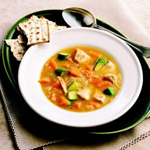 This colorful soup recipe is flavored with butternut squash, apricot ...