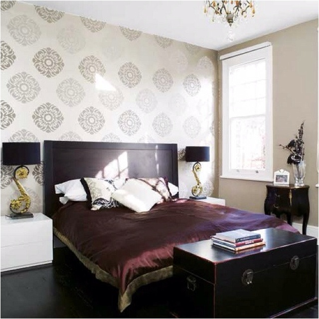 master bedroom very nice wall paper addiction pinterest