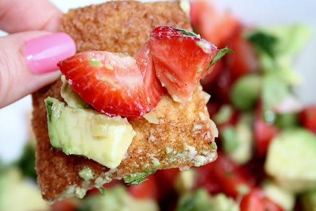 Strawberry and Avocado Salsa | Appetizers | Pinterest