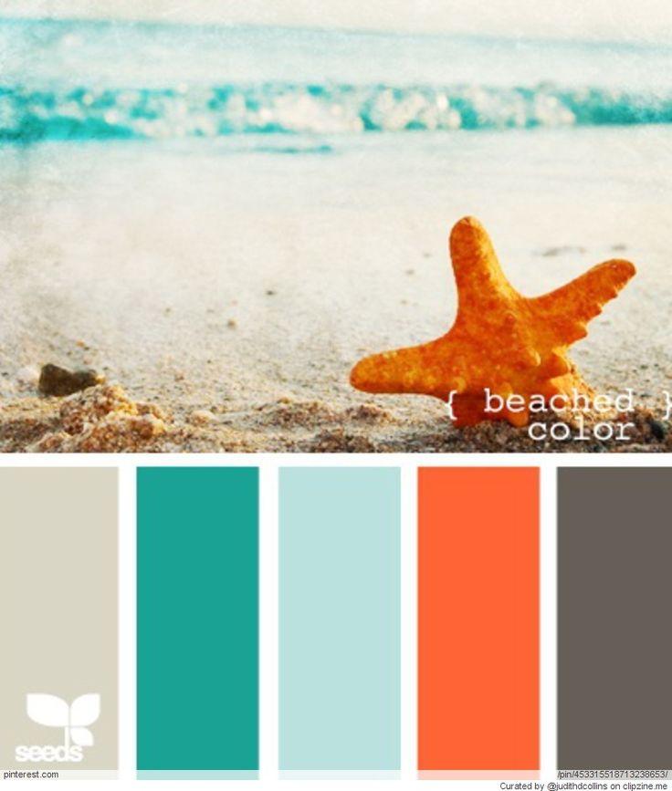 Caribbean bathroom decor - Beach House Color Palettes Beach House Pinterest