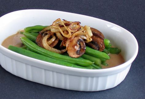 Deconstructed Green Bean Casserole This doesn't look pretty but I ...