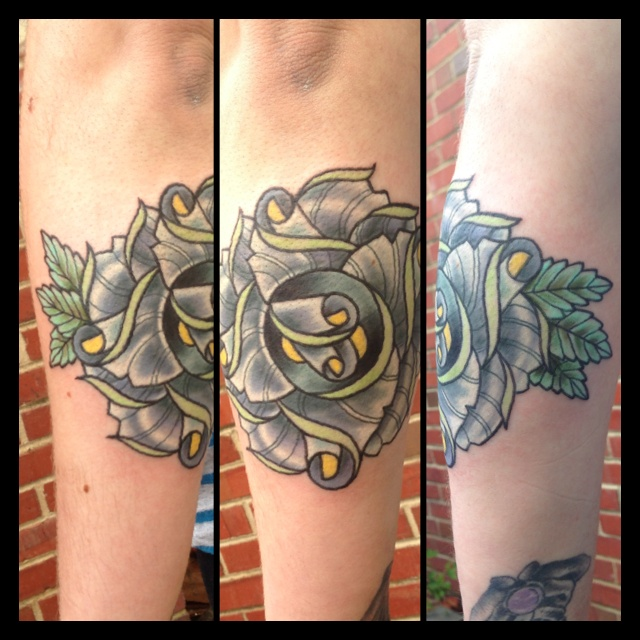 Richmond Tattoo: Flower Tattoo By Greg French Richmond Va