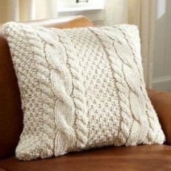 Cable Knit Pillow Cuscino A Maglia, Maglia Intrecciata e Maglieria