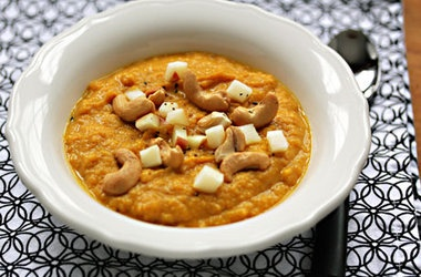 Creamy Indian-Spiced Vegan Sweet Potato Soup — Punchfork...minus the ...