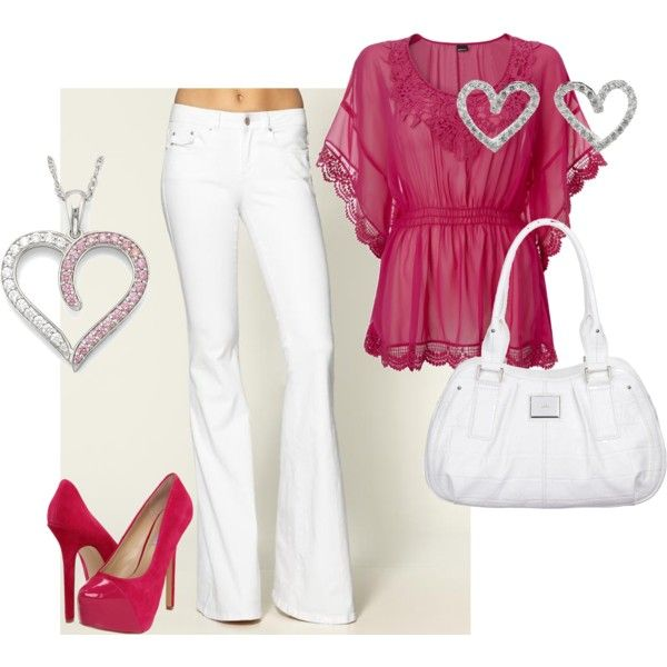 fushion and white jeans, created by roberta-weiss on Polyvore
