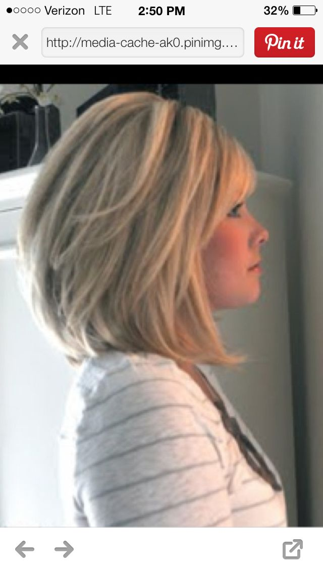 Stacked long bob-REALLY thinking about chopping my hair off again!
