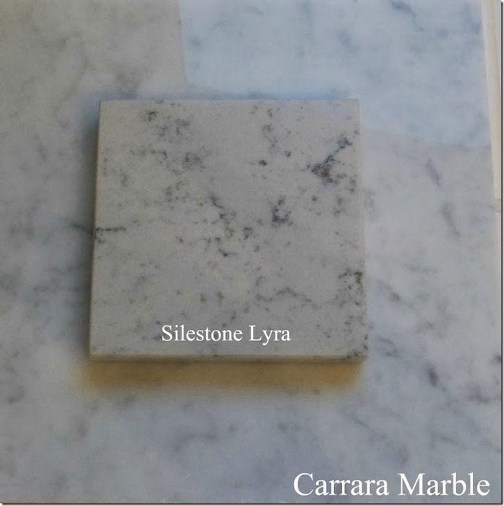 Carrara silestone lyra comparison tile wood and for Cost of silestone