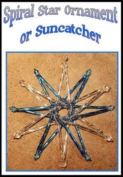 Spiral Star Ornament or Suncatcher Pattern