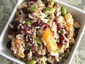 Delectably Mine: Clementine Brown Rice Salad with Edamame and ...