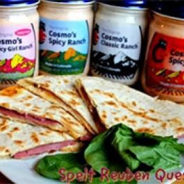 Spelt Reuben Quesadillas | Mambo Sprouts | Back to School | Pinterest