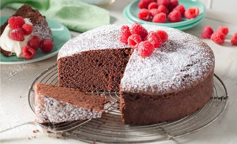 While it's called a Basic Chocolate Cake, the luscious sponge texture ...