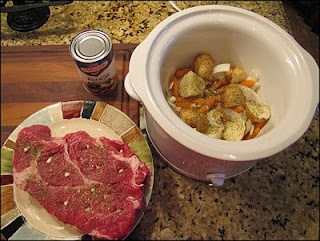 garlic studded pot roast